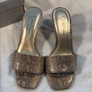 Jessica Simpson Square Toe Kitten Heels